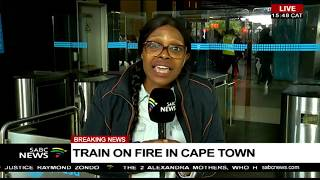 UPDATE: Train on fire in Cape Town
