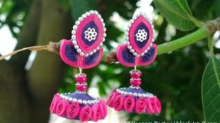 DIY Beautiful and Unique paper quilled jhumka, Paper quilling jhumka tutorial HD