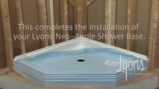 Lyons Neo-angle Shower Base Installation