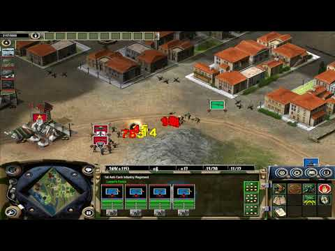 Axis and Allies (2004) - Allied mission #5 - Road to Rome, hard difficulty, flawless victory