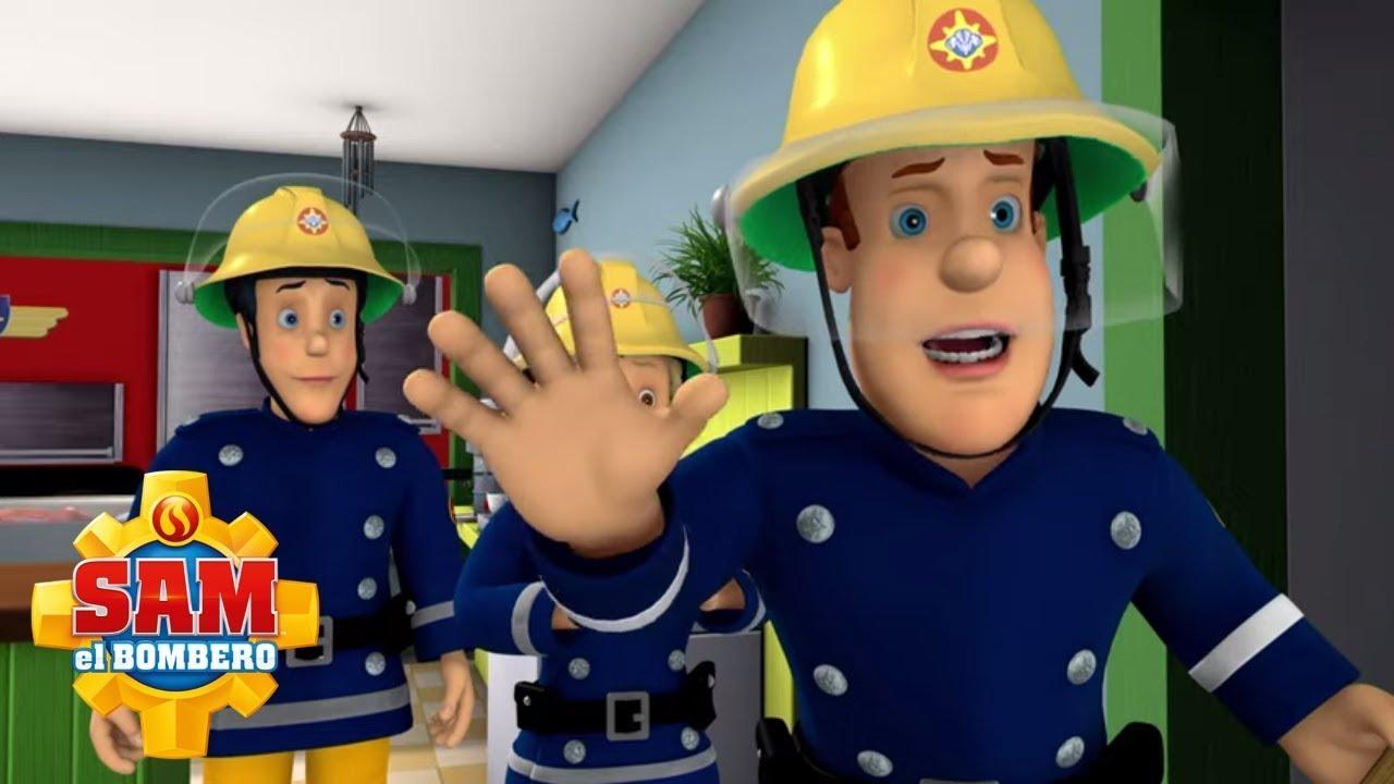 El Bombero Sam   Sam el bombero salva a Mike   Rescates de bombero   Dibujos animados