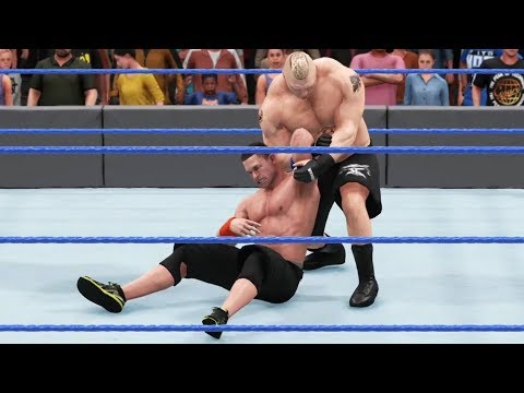WWE 2K18 - John Cena vs Brock Lesnar - Gameplay (PS4 HD) [1080p60FPS] thumbnail