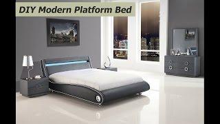 DIY Modern Platform Bed | Bedroom Design Ideas
