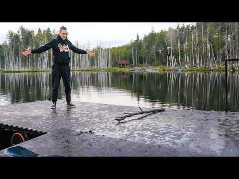 Парк Бобрового Периода. Плот на озере. Бобр 4K