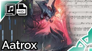 Aatrox login theme - League of Legends (Synthesia Piano Tutorial)
