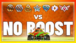Can an SSL with NO BOOST beat every rank in Rocket League? (1v1 challenge)