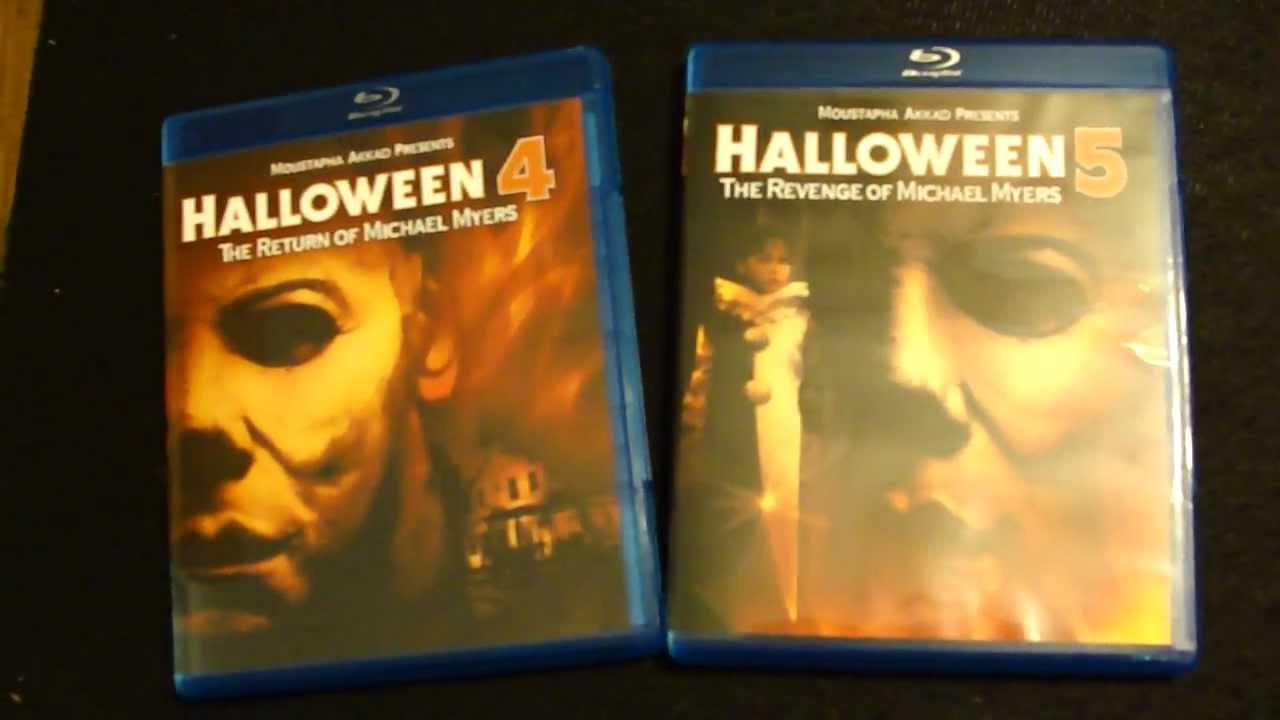 Halloween 5 Blu Ray.Exclusive Preview Halloween 4 5 Blu Ray Disc Package Contents