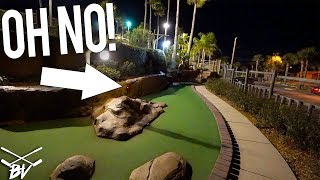 MINI GOLF SHOT GOES WRONG + CRAZY MINI GOLF HOLE IN ONE!