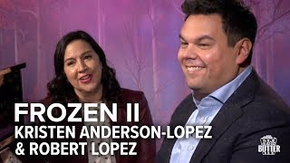 Frozen 2: Kristen Anderson-Lopez & Robert Lopez sing 'Into the Unknown' | Extra Butter Interview