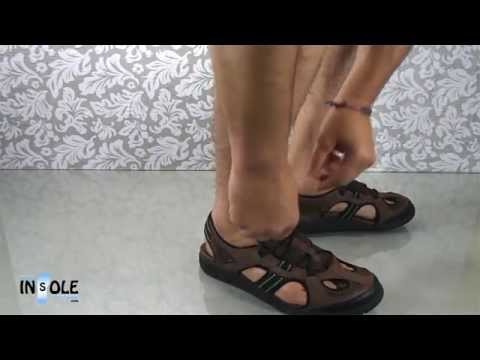 New Balance RevitalignRX Preserve Brown Men's Orthotic Sandals @TheInsoleStore.com