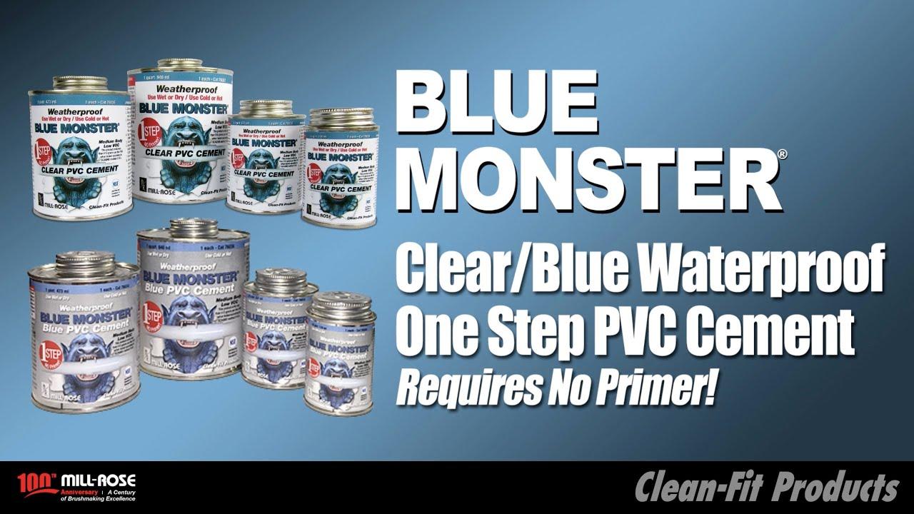 Blue Monster Pvc Cement Weatherproof 1 Step Blue Pvc Cement