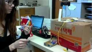 Katie's Candy-dispensing Robot Trial Run 1 - George School 2013