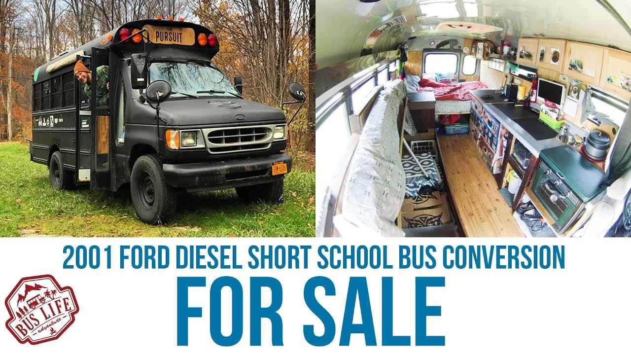 01 Ford 7.3l Short School Bus Conversion For Sale - Adam Sauerwein
