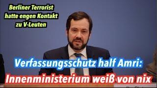 Verfassungsschutz kannte & half Amri vor der Tat: Innenministerium spielt