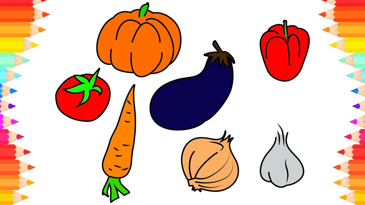 How To Draw Vegetables For Kids Step By Step Art Drawings Diy