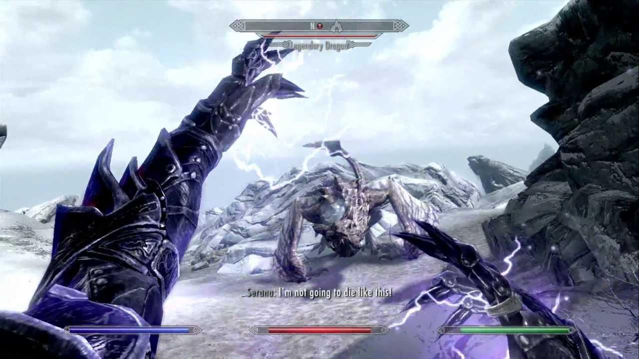 Skyrim Legendary dragon on master difficulty! (Xbox 360 ...
