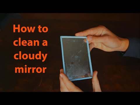 How to clean a cloudy mirror with Vinegar!