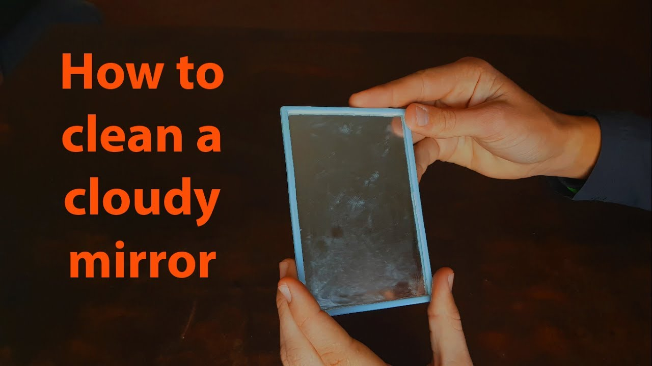 How To Clean A Cloudy Mirror With Vinegar Youtube