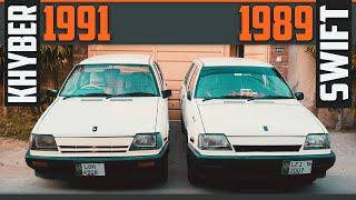 Suzuki Khyber 1991 with Suzuki Swift 1989 (Comparison)