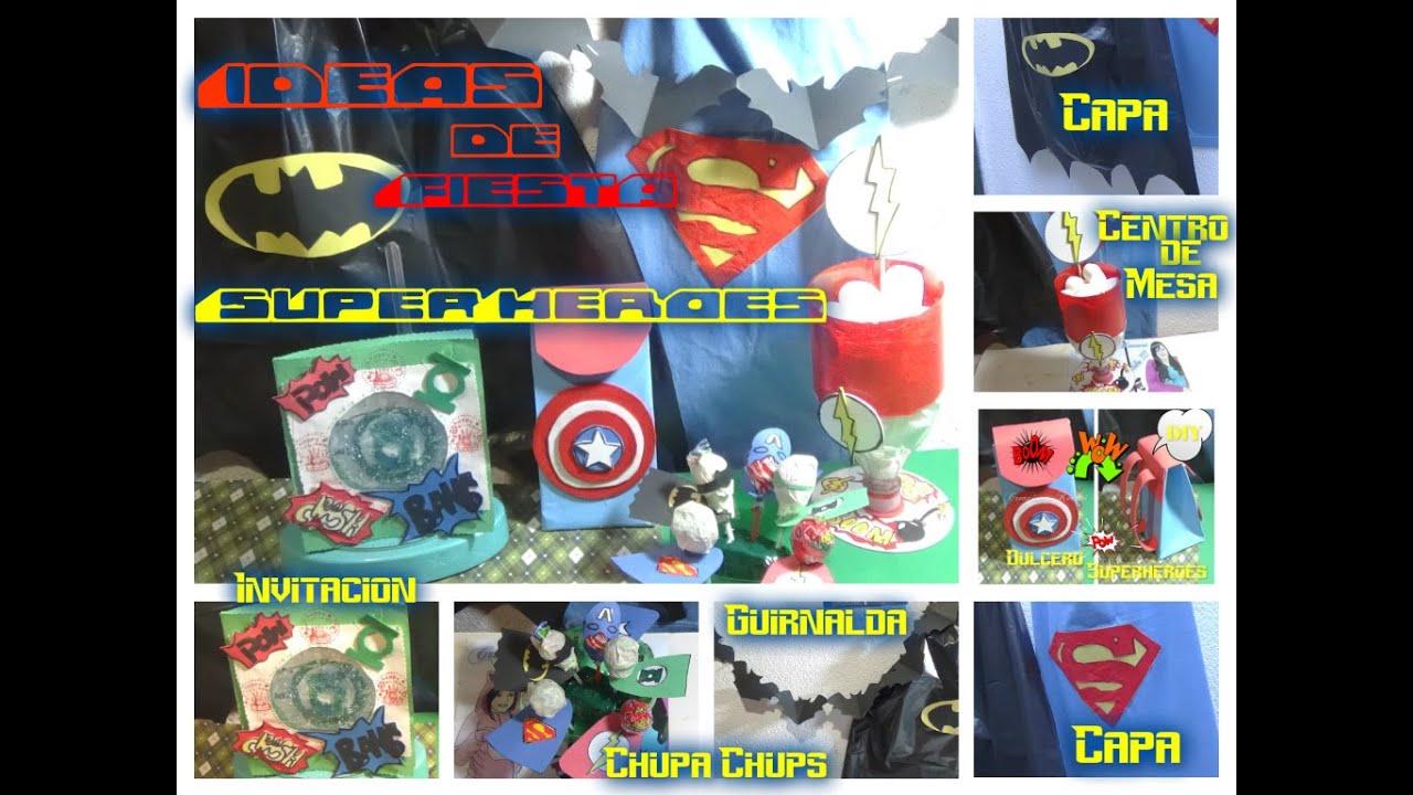 Ideas para fiesta de superheroes tutorial diy dulceros doovi
