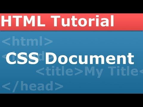 PROgramming With The Pro - HTML Part 2 - Making Our CSS Document