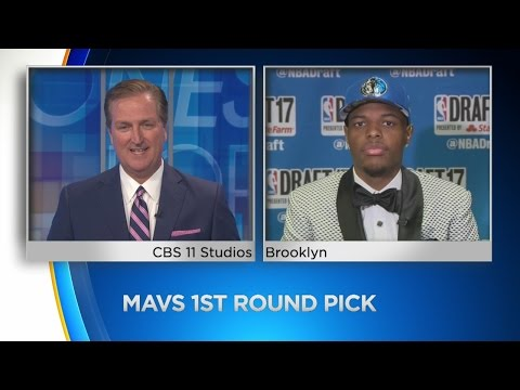 Dennis Smith Jr. Talks To CBS11's Bill Jones After Being Drafted By The Mavs
