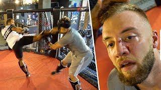 Ich Kämpfe gegen ein MMA Profi  (endet blutig)
