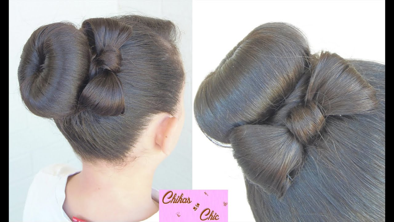 Hairstyles With Donut Bun: Chikas Chic - YouTube