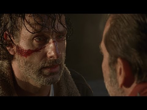 TWD S7E1 - Season Premiere Introduction | Negan drags Rick into the RV