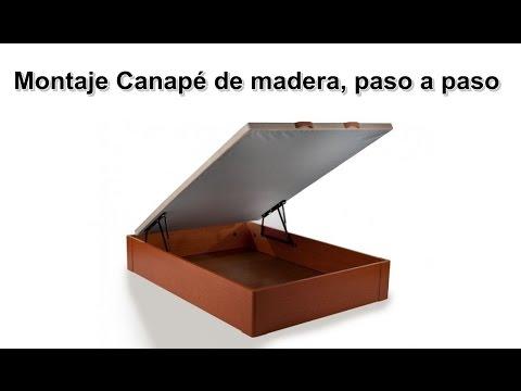 Montaje canap de madera abatible paso a paso furnet - Como hacer un canape ...