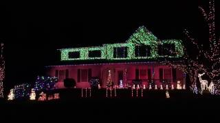 "2016 Christmas Light Show to ""Christmas Eve / Sarajevo"" by Trans Siberian Orchestra W/ Light o Rama"