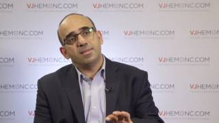 What does a physician need to consider when treating relapsed or refractory myeloma?