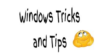 Windows 10 Tips and Tricks (Part-01)