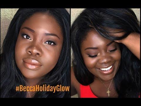 "Becca Holiday Apres Ski Glow Collection ""Makeup Tutorial"" WOC - 동영상"