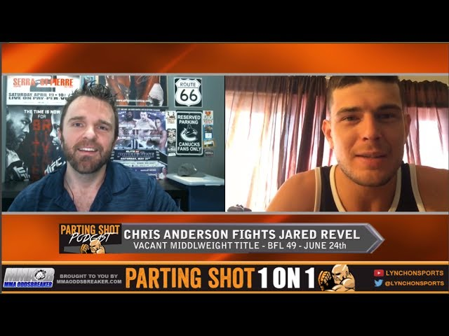 "BFL 49's Chris Anderson ""I'm catching Jared Revel on the end of my elbow"""