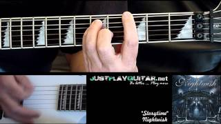 [ NIGHTWISH - Storytime ] How to play part 1/2 [ guitar cover ]