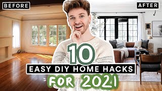 10 Budget Friendly DIY Home Hacks for 2021 (New Year, New Home!)