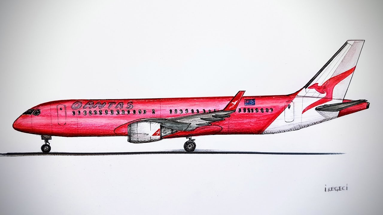 Drawing Lines With Photo Cs : Qantas bombardier cs drawing timelapse youtube