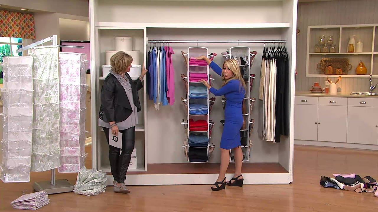 Closet Organizer Side Shoe Pockets Lori Greiner