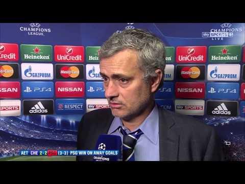 Jose Mourinho's Post Match Interview | Chelsea  v  PSG 2-2 ( 3-3 )