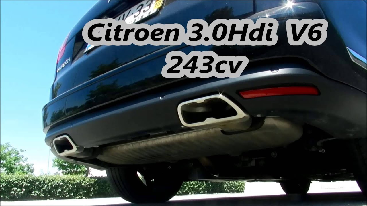 exhaust sound citroen c5 3 0hdi 243cv som escape. Black Bedroom Furniture Sets. Home Design Ideas