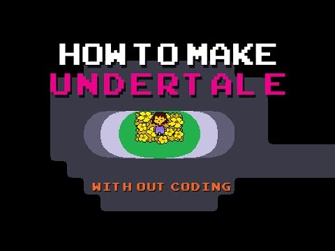 How to make undertale - no coding - game maker studio 2  - drag and drop