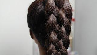 Плетение косы из 5-ти прядей. Прическа на каждый день.