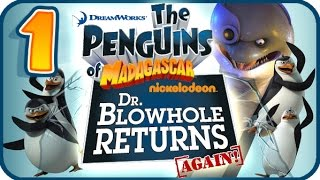 Penguins of Madagascar Dr Blowhole Returns Again Walkthrough Part 1 (PS3) 100% Level 1 - Mango Mania