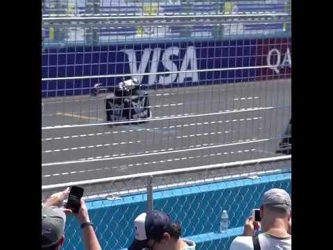 Titan Grand Prix GIANT (1m) FPV Racing Drone ANNIHILATES Formula E Indy car, QCOM EPrix, BRKLYN NYC