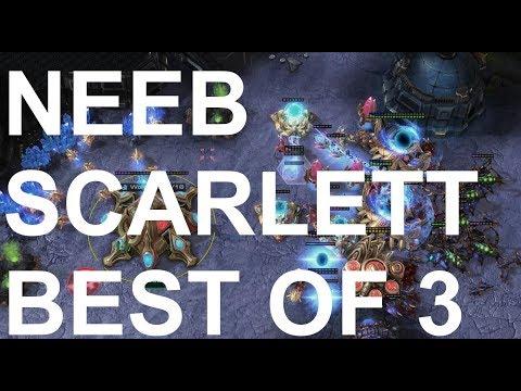 Neeb (P) v Scarlett (Z) BEST OF 3 - StarCraft2 - Legacy of the Void 2018