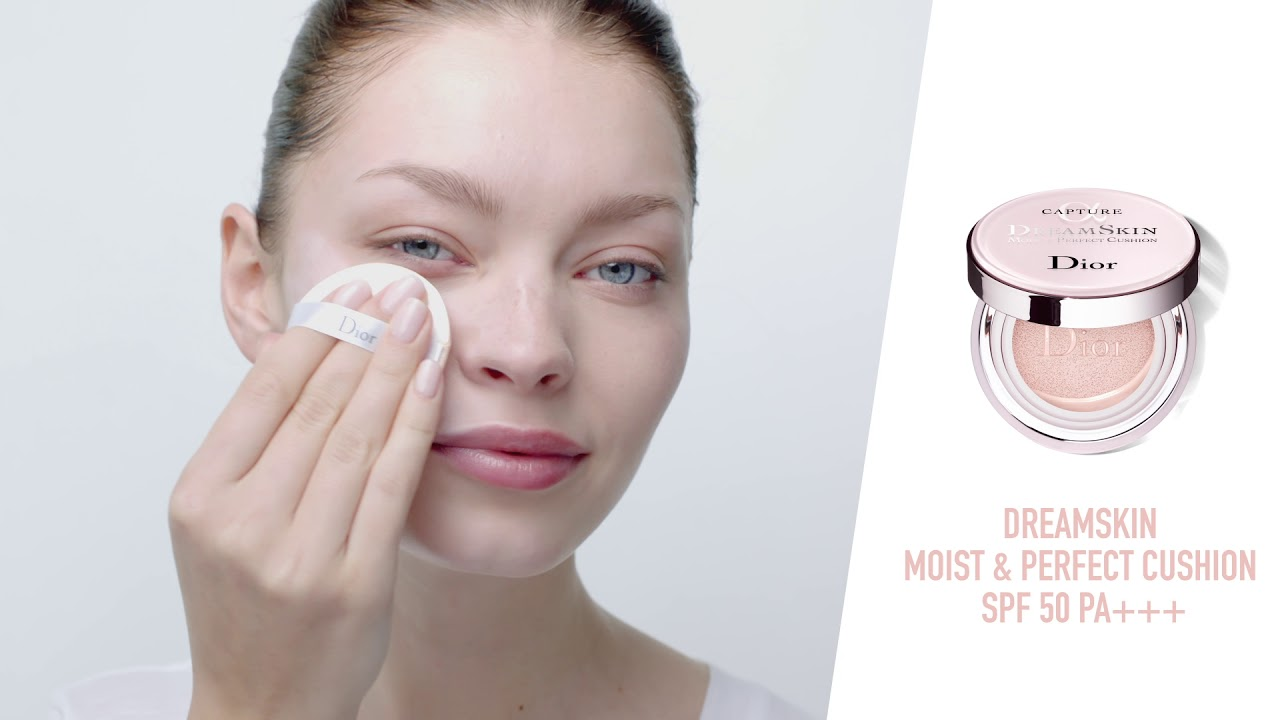 Dior - Dreamskin Moist & Perfect Cushion Tutorial - YouTube