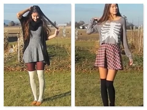knee high socks styling ft skirts and dr marten youtube