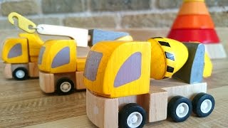 Learn Colors With Plan & Brio Toys Construction Trucks! Color Pyramid Educational Children's Video