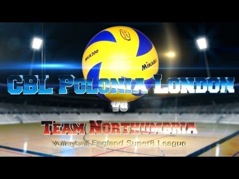 Volleyball England Super8: Team Northumbria - CBL Polonia London 3:0 - full match